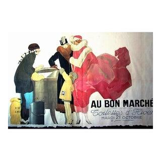1930s Original French Art Deco Poster, Au Bon Marché