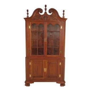 Henkel Harris Connoisseur Mahogany Welford Corner Cabinet