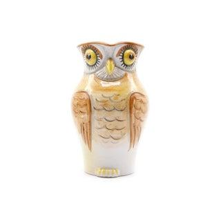 Italian Ceramic Owl Pitcher Preview