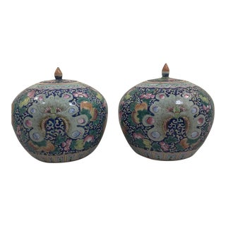 Antique Chinese Jars - a Pair For Sale