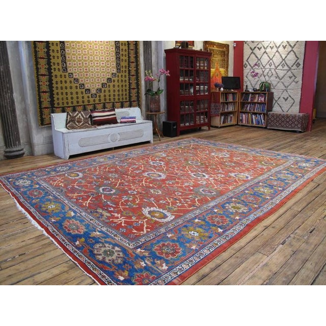 A fantastic antique Persian carpet from the Sultanabad region, in the style and quality attributed to Ziegler & Co., the...