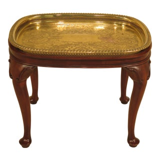 Harden Brass Tray Top Solid Cherry Coffee Table