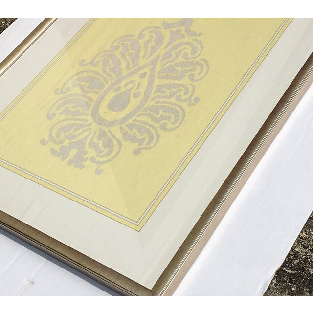 Yellow & Silver Damask Wall Art #2 by Iconic Pineapple - Image 4 of 5