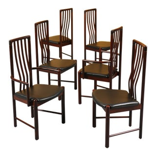 Danish Modern Rosewood Dining Chairs Set by Boltinge Stolefabrik For Sale