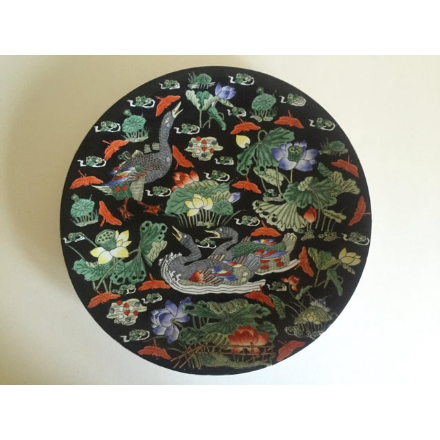Vintage Asian Swan Platter - Image 3 of 8