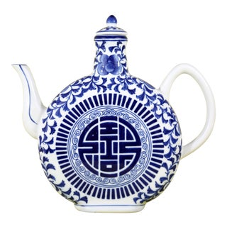 Blue & White Ceramic Teapot
