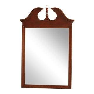 Knob Creek Ethan Allen Cherry Beveled Glass Mirror For Sale