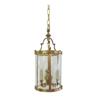 Transitional Small Classic Curved Glass Lantern For Sale