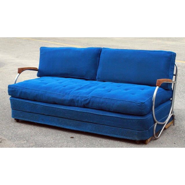 Art Deco Chrome Sofa Daybed - Image 2 of 10