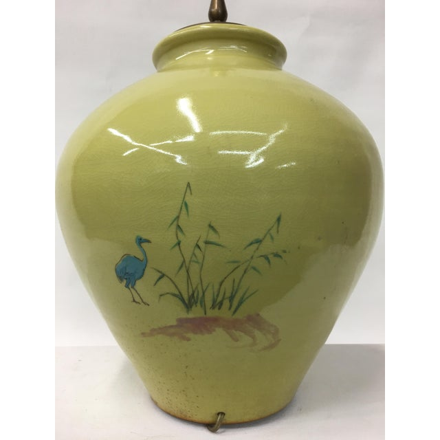 1960s 1960's Hand Painted Chinoiserie Scenery Lamp For Sale - Image 5 of 6