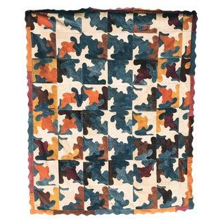 Contemporary Abstract Suede Rug - 6′ × 6′10″