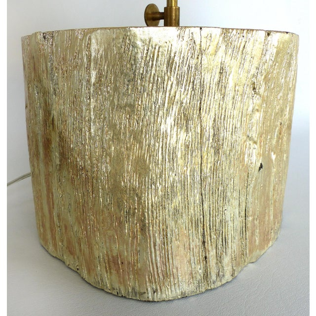 Silver Leaf and Giltwood Table Lamp For Sale - Image 4 of 9