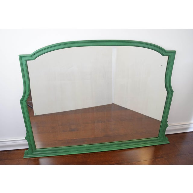 Green Vintage Green Mirror For Sale - Image 8 of 9