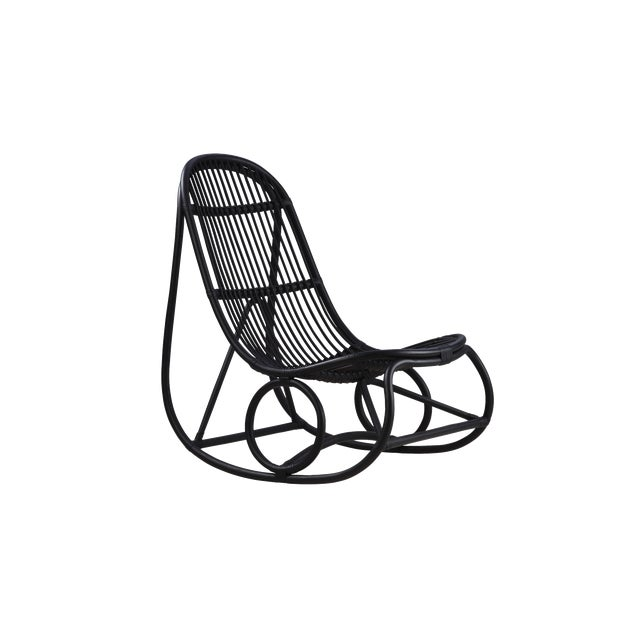 Nanna Ditzel Nanny Rocking Chair - Black For Sale In Minneapolis - Image 6 of 6
