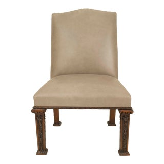 English Georgian Leather Side Chairs For Sale