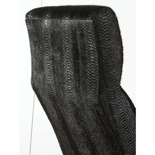 Paul Marra Slipper Chair in Brass with Laser Cut Cowhide Python For Sale In Los Angeles - Image 6 of 9