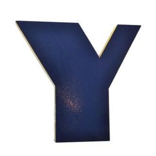 """Vintage """"Y"""" Metal Sign"""