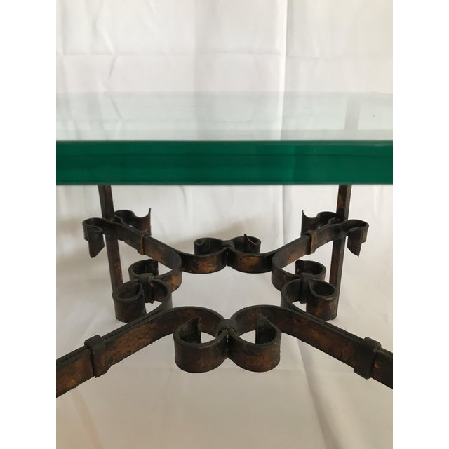 Black 1960's Mid Century Modern Marshall Fields Spanish Revival Style Wrought Iron Side Table For Sale - Image 8 of 10