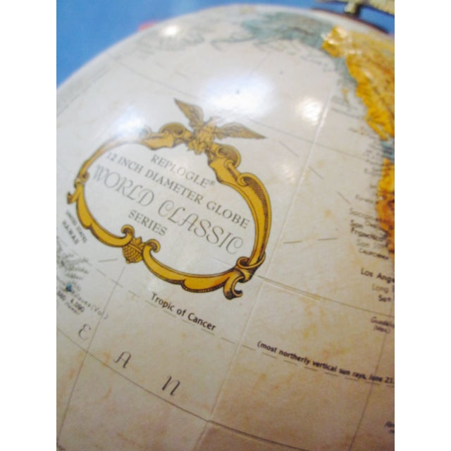 Vintage Old Fashioned Globe on Wood Base - Image 6 of 7