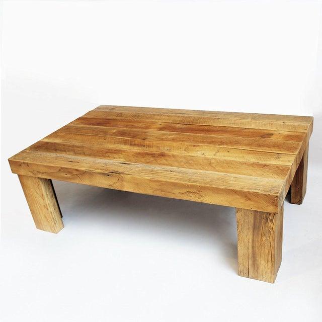 Reclaimed Oak Coffee Table - Image 2 of 3