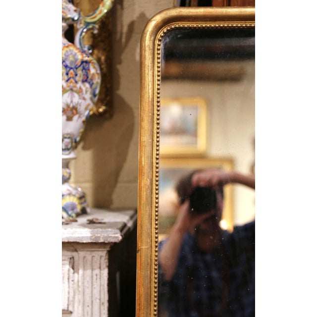 French Mid-19th Century French Louis Philippe Giltwood Mirror With Mercury Glass For Sale - Image 3 of 11