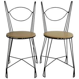 Tony Paul for Raymor Ice Cream Parlor Group Chairs - A Pair For Sale