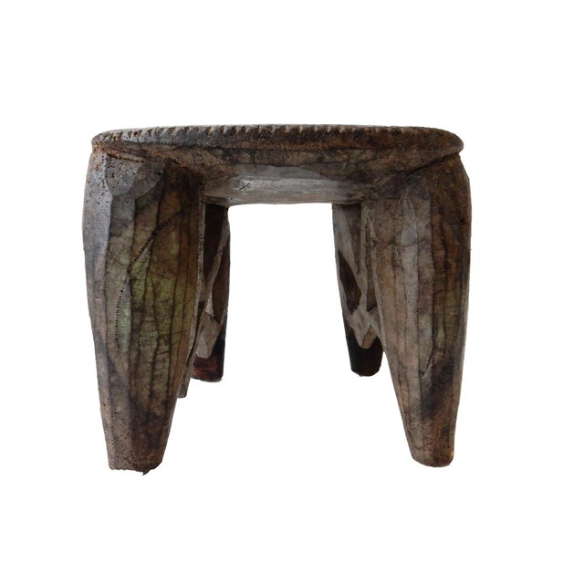 Senufo Carved Milk Stool - Image 3 of 6