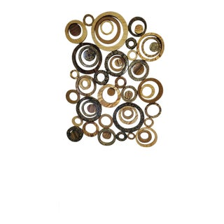Marquis Collection of Beverly Hills Large Circular Collage of Inlaid Natural Fossils, Stones and Seashells Wall Art Sculpture For Sale