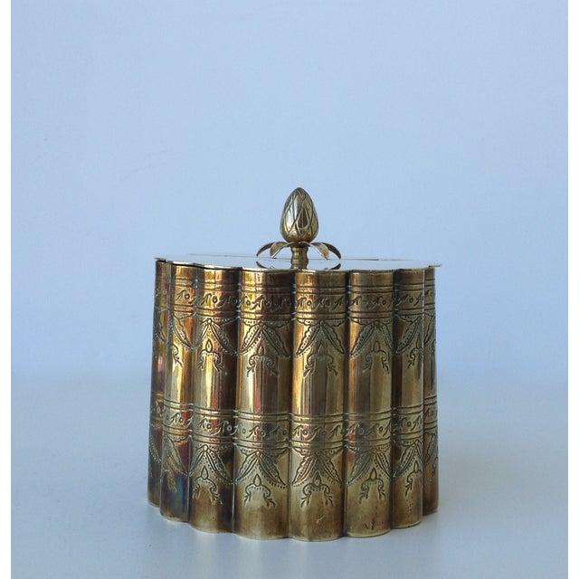 Brass English Moorish-Style Tea Container - Image 3 of 11