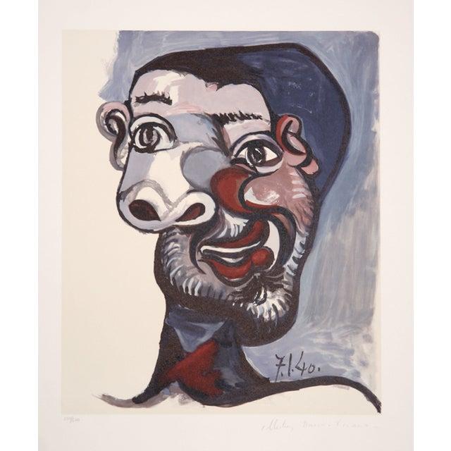 Pablo Picasso Lithograph - Tete De Homme - Image 1 of 2
