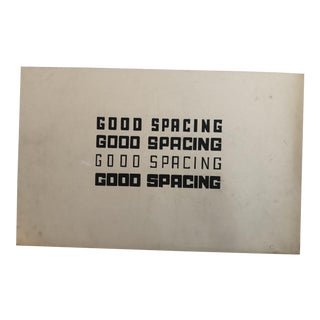 1960s Vintage Ed Ruscha Inspired Good Spacing Pop Art Painting For Sale