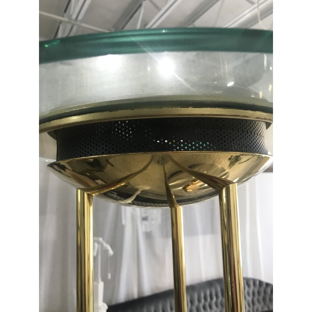 1980s Italian Brass Floor Lamp With Marble Base For Sale - Image 4 of 10