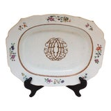Image of Late 18th Century Chinese Monogram Platter For Sale