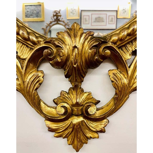 Pair Gilt Wood Wall or Console Mirrors For Sale - Image 10 of 12