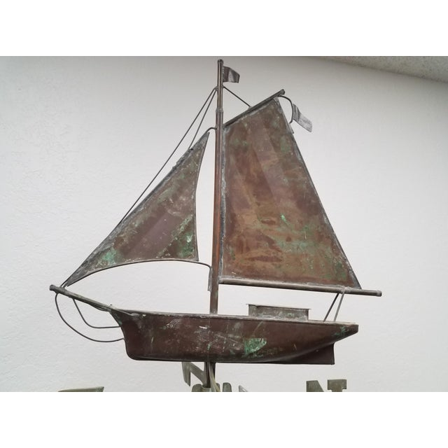 Antique Copper Boat Weathervane For Sale - Image 4 of 13