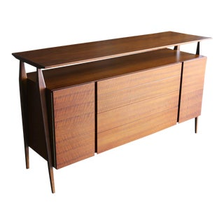 Mid-Century Modern Bertha Schaefer for Singer & Sons Walnut Cabinet For Sale