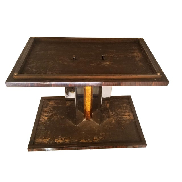 Silver 1930s Art Deco Burl Wood End Tables - a Pair For Sale - Image 8 of 9