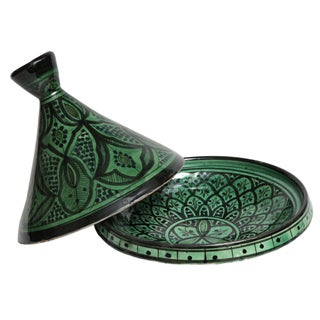 Hand-Painted Moroccan Ceramic Dish For Sale