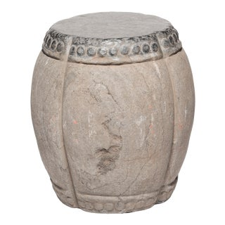 Chinese Clover Form Stone Drum For Sale