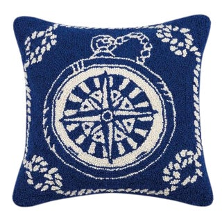 Compass Nautical Hook Pillow For Sale