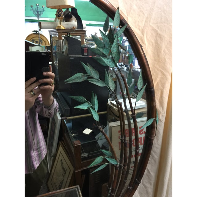 Andy Brinkley Studio Bamboo Motif Copper Table and Mirror For Sale - Image 5 of 7