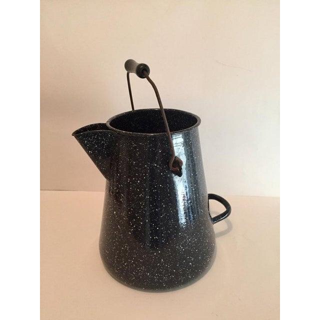 WW2 Navy Black Speckled Enamel Coffee Pot - Image 3 of 6
