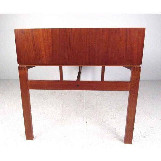 Mid-Century Modern Teak Double-Sided Desk For Sale - Image 4 of 11