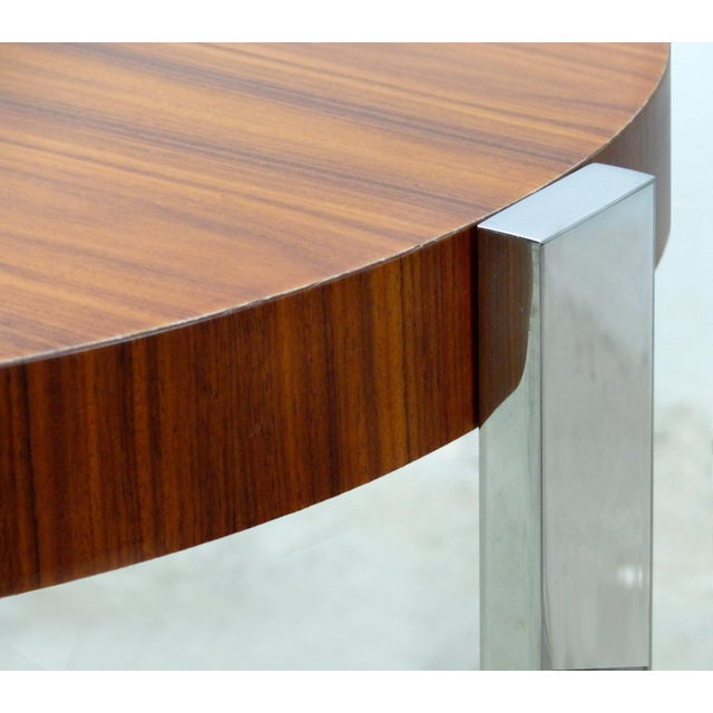 La Spada & Mazza for Medea, Side Table in Palisander Wood and Chrome Italy For Sale In Miami - Image 6 of 9