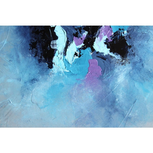 """Harbor Mist,"" Acrylic Painting - Celeste Plowden - Image 2 of 4"