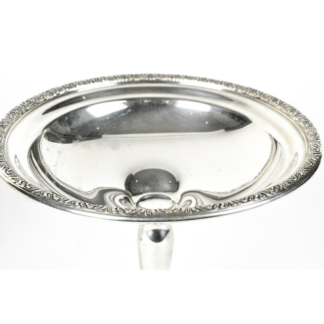 Early 20th Century Pair of Sterling Silver Dessert Compotes For Sale - Image 5 of 7