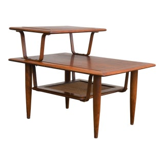 1950s Vintage Mid-Century Modern 3-Tiered Step End Table