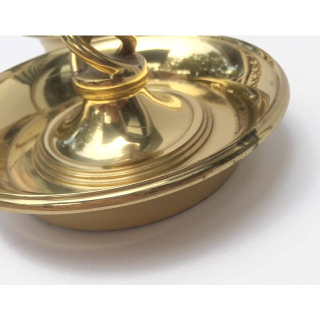 Brass Pair of Brass Spiral Barley Twist Candlestick Holders For Sale - Image 7 of 8