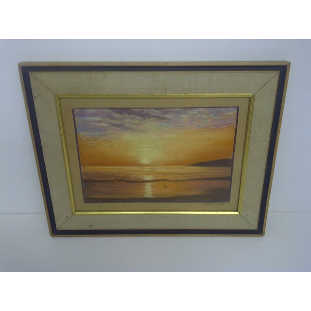 """""""Ocean at Sunset"""", Pastel Painting by Frank Rupp - Image 2 of 6"""