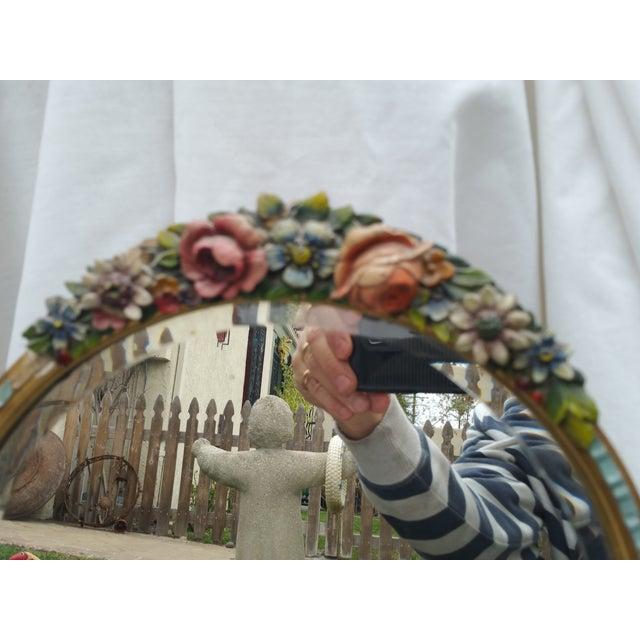 Rose Garland Barbola Mirror - Image 3 of 7